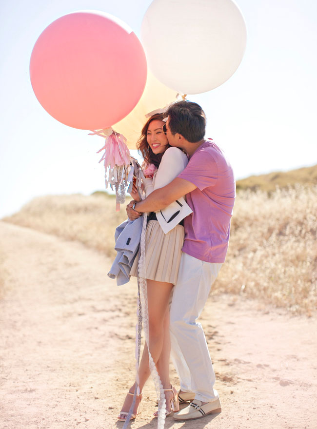 giant balloon engagement